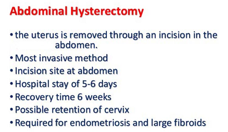 Abdominal hysterectomies are the most common procedure